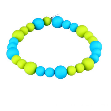 Custom Made Funny Small Silicone Beads Wristband Jewelry